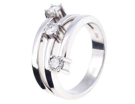 Anillo elaborado en Diamantes Y Oro Blanco #jewellery #ring #gold #luxury #diamonds