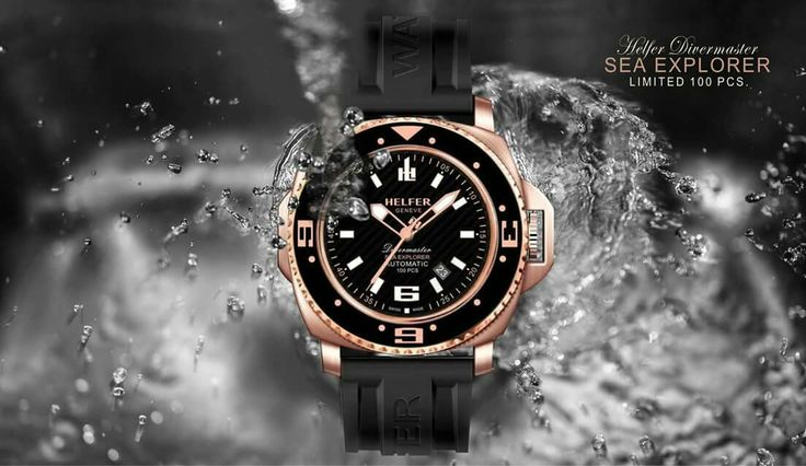 Helfer Sea Explorer #helfer #watch #watches #luxury #diver #miami #dubai #reloj #orologi #pinterest