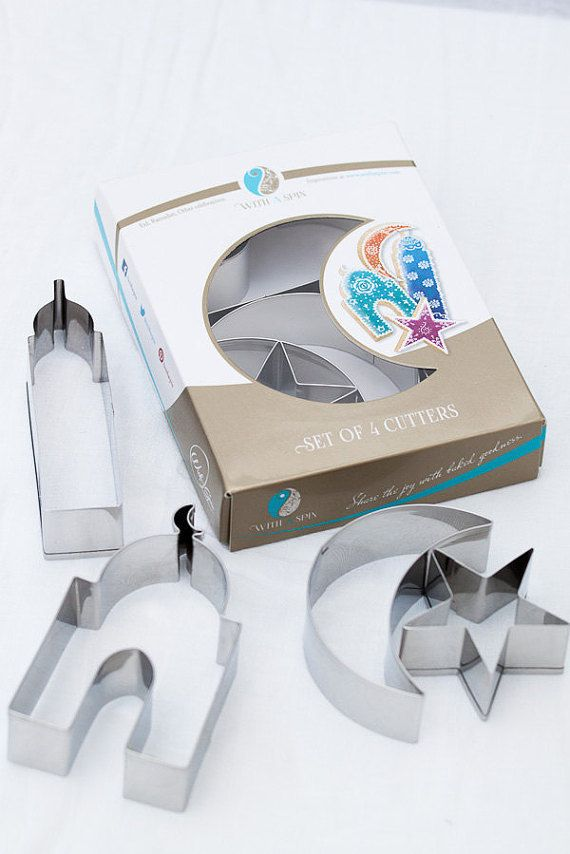 With A Spins very own Islamic Celebration Cookie Cutter Set is a must have for celebrating everyday events, Ramadan and Eid. The elegant set includes