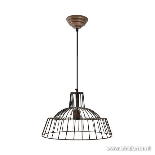 **Hanglamp BARDINA antiek koper - www.straluma.nl