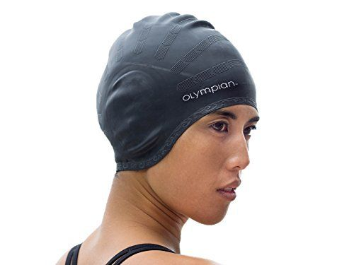 Swim Cap for Long Hair Adult Men / Women - Olympian Swim Cap Suited for Swimming and Water Aerobics - No Snag - Reduced Tension - Reduced Drag - Tear Resistant - Hypoallergenic - Unlimited Guarantee - http://www.exercisejoy.com/swim-cap-for-long-hair-adult-men-women-olympian-swim-cap-suited-for-swimming-and-water-aerobics-no-snag-reduced-tension-reduced-drag-tear-resistant-hypoallergenic-unlimited-guarantee/swimming/