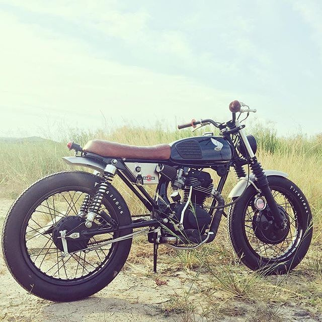 "klassikkustoms: "" #Honda #cg125 #bratstyle """
