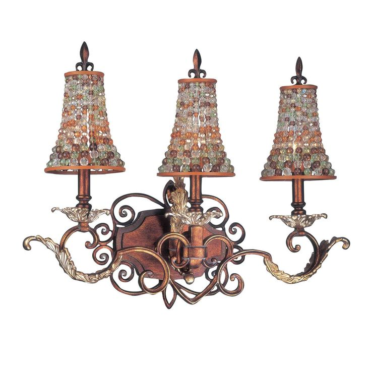 unique lighting fixtures cheap. kalco 2563tgs292 chesapeake 3 light bath in tuscan gold with beaded shade unique lighting fixtures cheap