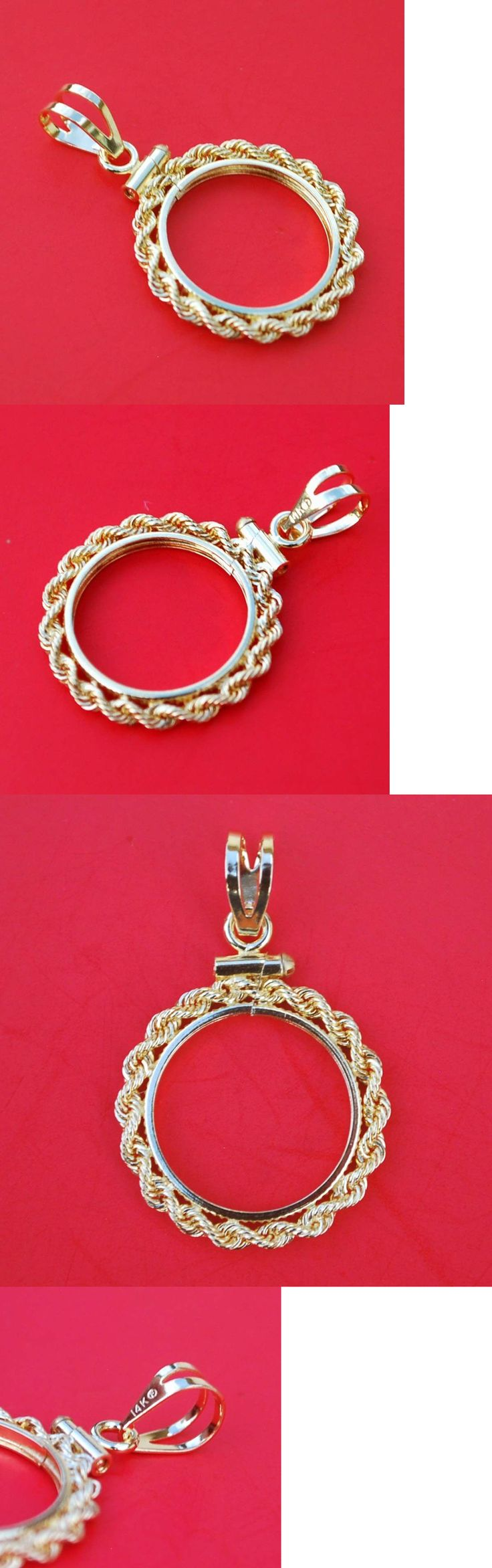 Other Jewelry Design Findings 164356: Solid 14K Yellow Gold Bezel Fit 1/10 Oz Gold Canada Coins And Other 16Mm Dia Coins BUY IT NOW ONLY: $96.95