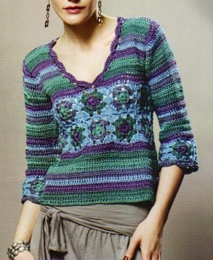 Crochet Sweater - Free Crochet Diagram