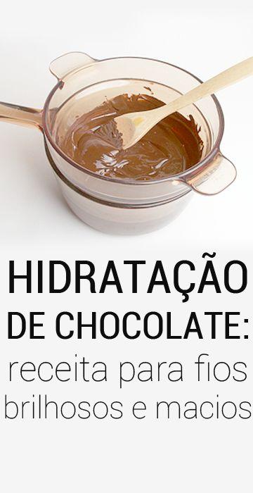 Como fazer receita caseira de chocolate Hidratação de chocolate para cabelo macio e brilhoso: ideal para cabelos crespos, cacheados e ondulados.