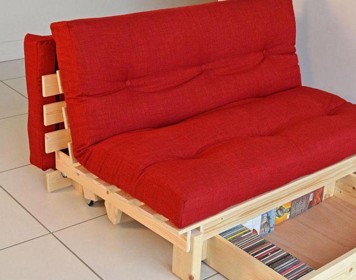 Image result for trifold wooden futon frame