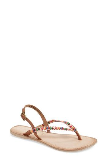 2d0177caf6728 Free shipping and returns on Coconuts by Matisse Celebration Beaded Sandal  (Women) at Nordstrom.com. Brightly colored beads add a festive touch to a  flat ...
