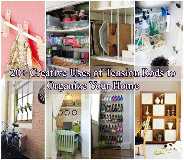 20+ Creative Uses of Tension Rods to Organize Your Home