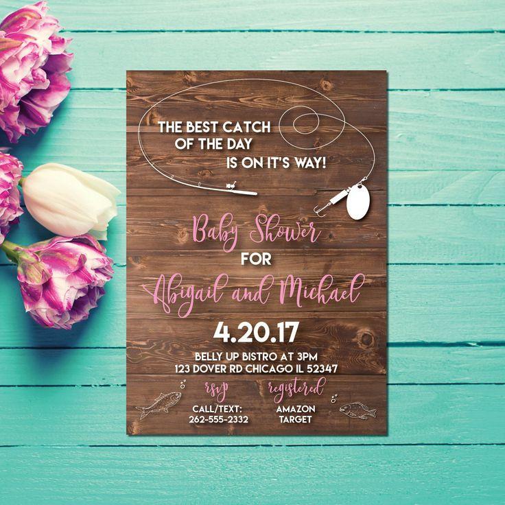 boy baby shower invitations australia%0A Fish Baby Showers  Rustic Baby Showers  Big Sky  Baby Shower Invitations  Shower  Invitation