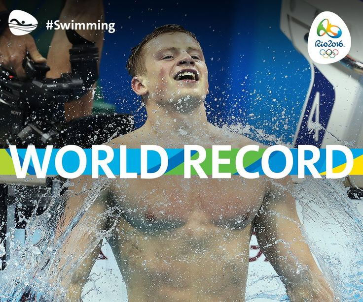 #GBR's Adam Peaty broke his own world record yesterday. Now he's done it again! 100m breaststroke gold.