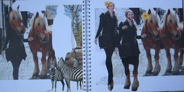 """""""Paardenmeisje''. Liesbeth Dirkse, 2014. Collage"""