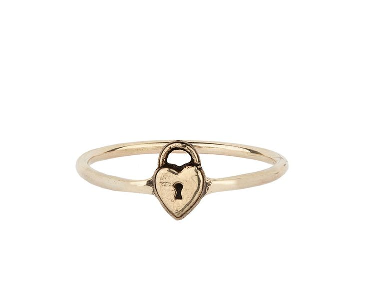 #Heart lock #symbol 14k #gold #ring The heart lock is #symbolic of surrendering to #love. Available in size 7 Additional ring sizes are available upon request 14K yellow gold symbol charm formed into a thin 14K gold ring band. Comes with a hand torn meaning card and an unbleached cotton #Pyrrha pouch. #Charm measures approx. [...]