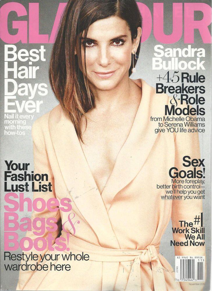 Sandra Bullock Glamour Magazine November 2015 Shoes Bags Boots Sex Goals  #CondeNast