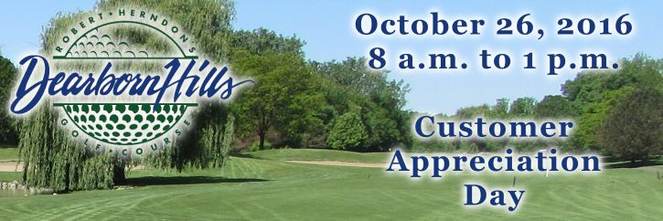 Dearborn Hills Golf Course will say thank you to its patrons October 26 when the facility hosts Customer Appreciation Day. Golfers booking a tee time between 8 a.m. and 1 p.m. on October 26 will enjoy 9 holes for just $5, which includes the use of a cart. Customer Appreciation Day participants will also enjoy discounted prices on hot dogs and beer. Advanced tee times are recommended. Tee times may be booked by visiting www.dearbornhills.com or calling (313) 563-4653.