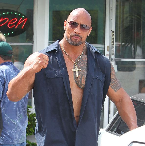 Dwayne Johnson on the set of the upcoming movie 'Pain And Gain' in Miami, Florida on May 30th, 2012. Description from eurweb.com. I searched for this on bing.com/images