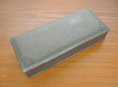 Jugendstil Handschuh Schatulle Leder -ca. 1900- Art Nouveau Glove Box Leather
