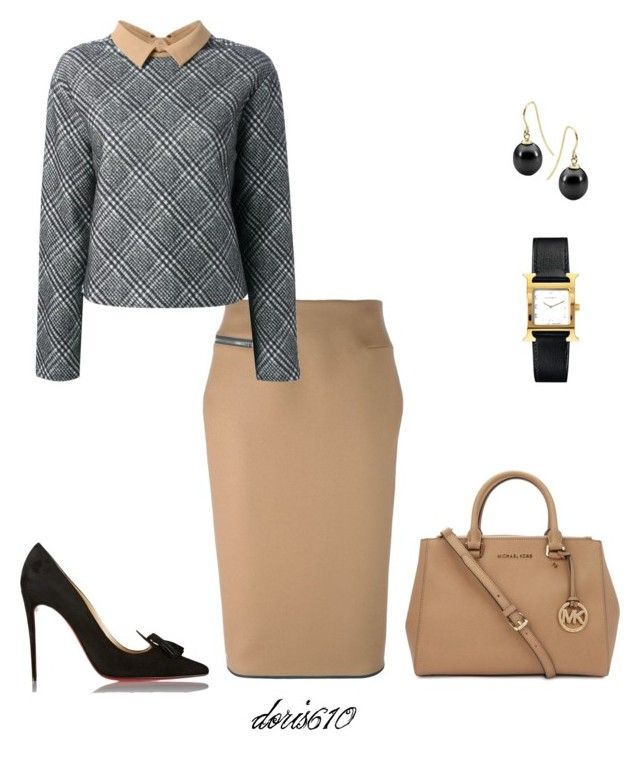 """Untitled #1266"" by doris610 ❤ liked on Polyvore featuring Victoria Beckham, Carven, Christian Louboutin, Michael Kors, StyleRocks and Hermès"
