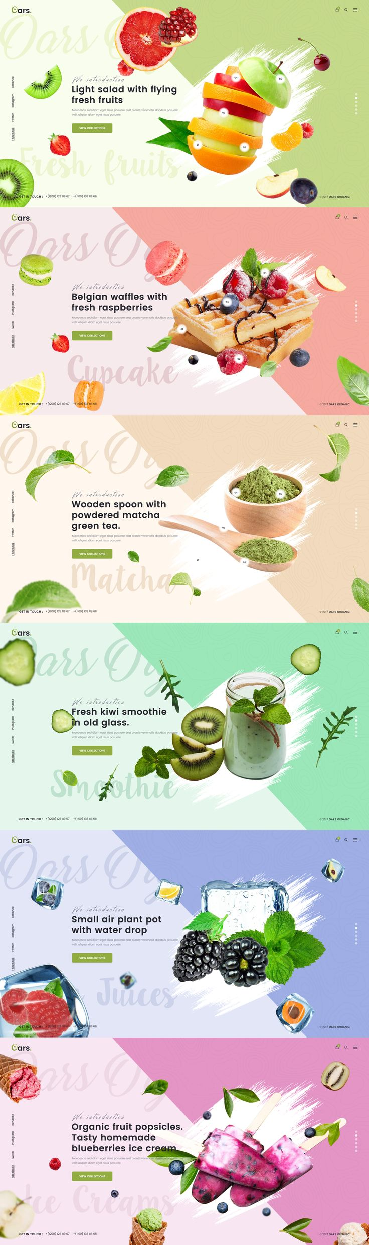 Oars - Creative Organic Store , Smoothie , Fresh Food PSD Template by creativewithjoy