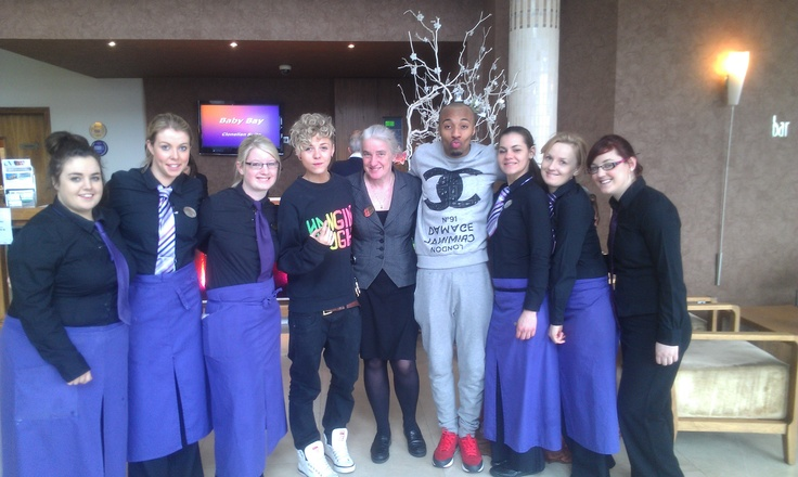 Some of our staff with Mk1!