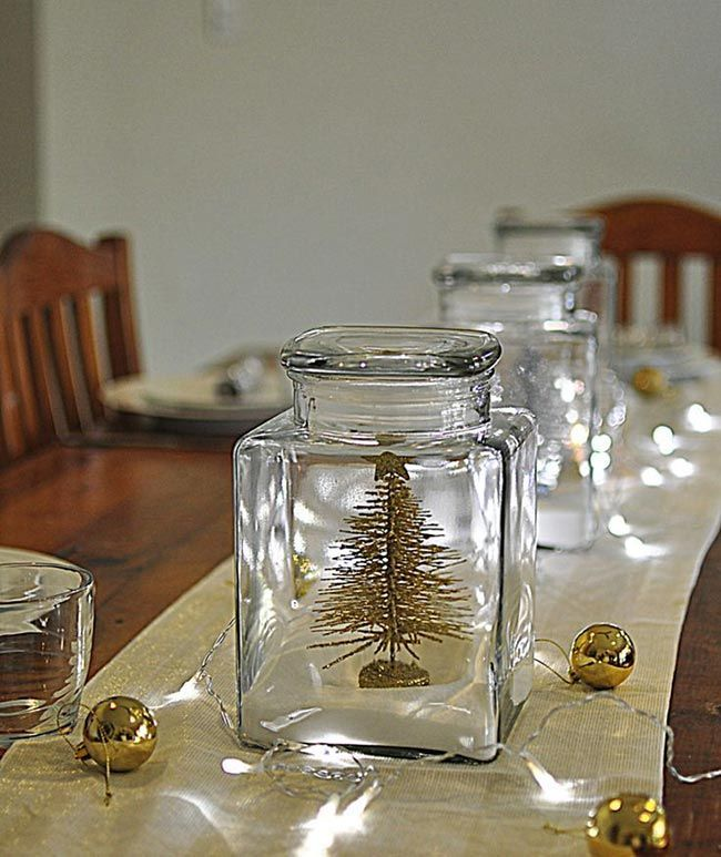 The magic of fairy lights for holiday decorating table - Fairy light decoration ideas ...