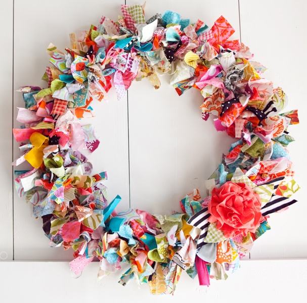 DIY Rag Wreath… w/instructions