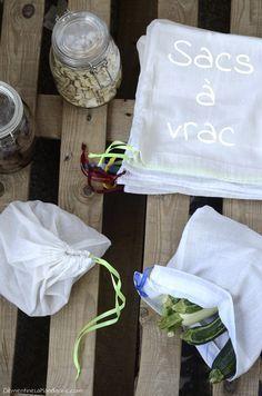 Sacs à vrac, le retour   Clémentine la Mandarine à tester pour éviter les sachets plastiques des fruits et légumes .....