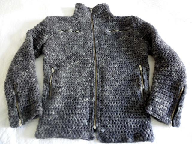 Virkattu miesten takki - VMSomⒶ KOPPA