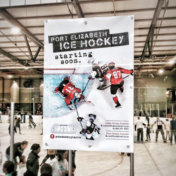 Poster design for PE Ice Hockey by Lara-Anne Derbyshire. #design #graphicdesign #poster