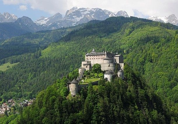 Hohenwerfen Castle: about an hour south of Salzburg. #feelaustria