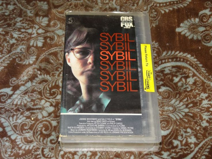 Sybil (VHS, 1985) Rare OOP CBS/FOX! 1976 TV Woodward/Sally Field Mental Illness!