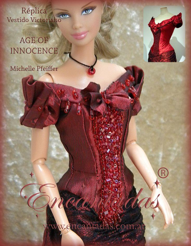 Age of Innocence - Red Victorian Dress (details) by Encantadas.deviantart.com on @DeviantArt