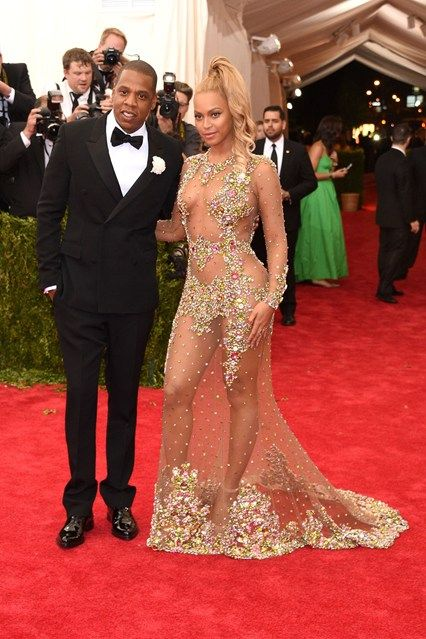 Jay-Z and Beyonce in Givenchy Haute Couture by Riccardo Tisci