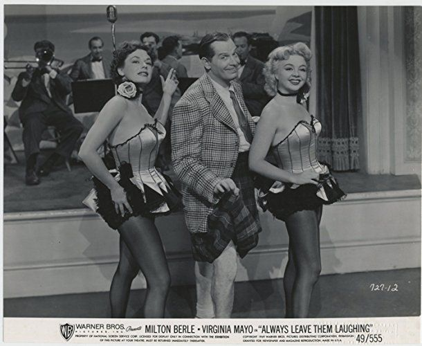 Milton Berle, Iris Adrian, and Ruth Roman in Always Leave Them Laughing (1949)