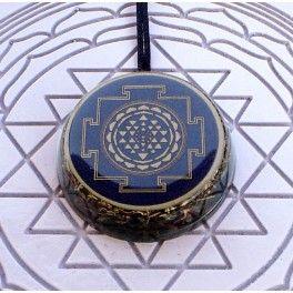 Blue Shri Chakra Orgonite Pendant