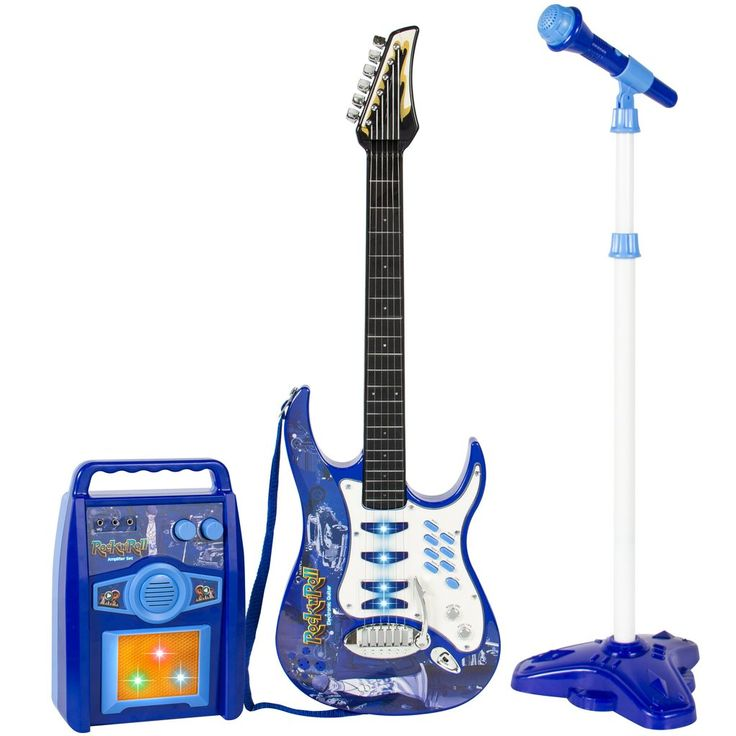 Kids Electric Guitar Play Set - Blue