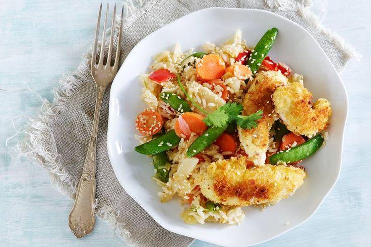 Het knapperige laagje om de kip maakt dit gerecht in één klap kidsfavoriet - Recept - Allerhande