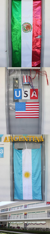 Decoración de puertas de aulas - Banderas de América