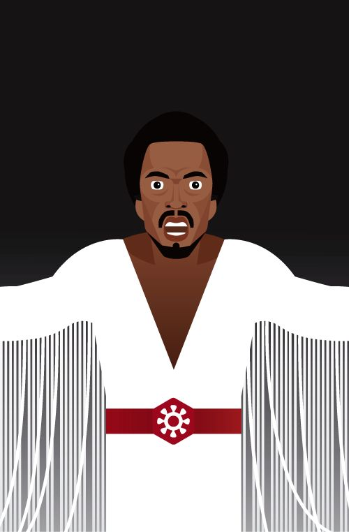 Judas, Jesus Christ Superstar, Carl Anderson, vector illustration by Nada Rysankova