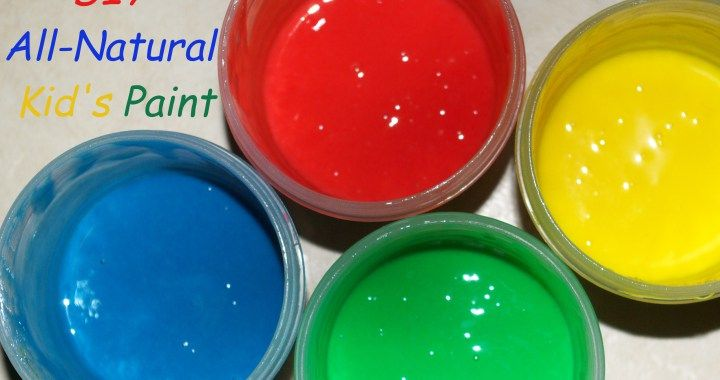 DIY All-Natural Kid's Paint That Is Even Better Than My Last Recipe - TheHippyHomemaker