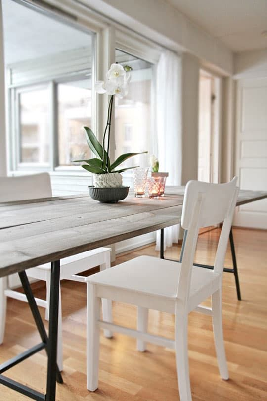 Super Simple DIY Trendy Dining Table — Stylizimo | Apartment Therapy