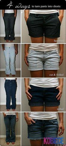from jeans to shorts