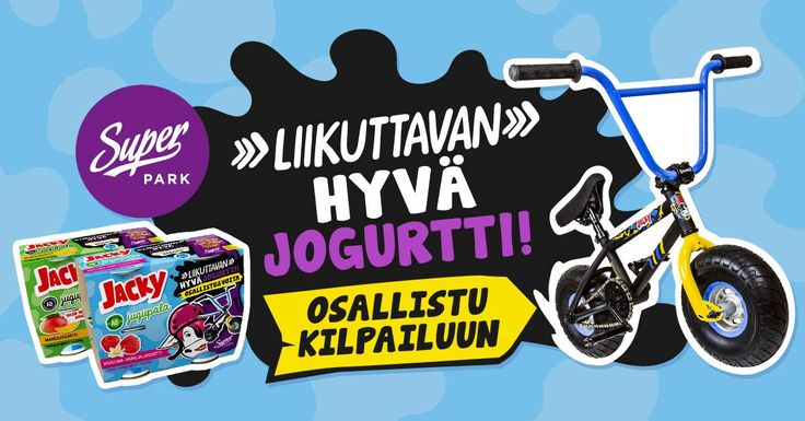 Osallistu pakkauksen koodilla kilpailuun ja voita temppupyörä tai muita palkintoja. http://www.jacky.fi/liikuttavanhyva