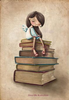 Elina Ellis Illustration: Book Fairy
