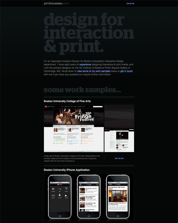 Jon Brousseau - Design for interaction & Print