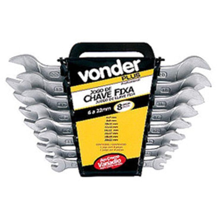 Chave Fixa Jogo 6 a 22 mm Cromo Vanadium VONDER é na Palácio das Ferramentas