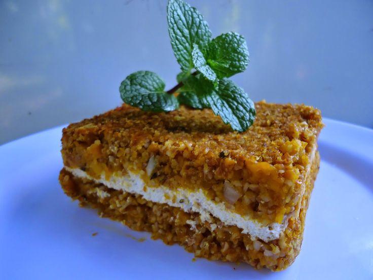 Quibe de abóbora com tofu