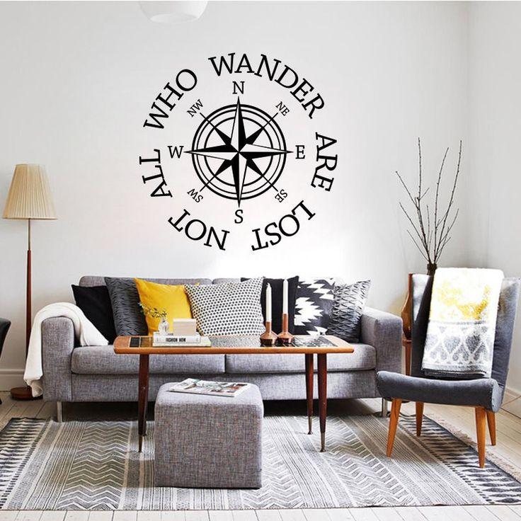 Compass Rose Nautical Wall Sticker Home Decor Removable Living Room DIY   | eBay