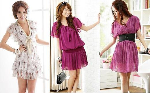 Розовые летние платье до колен