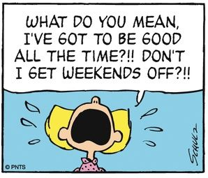 Weekends are for being bad…